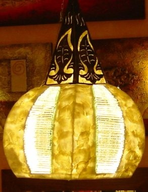 lampadari etnici: lampadari a sospensione, con struttura in ferro ...