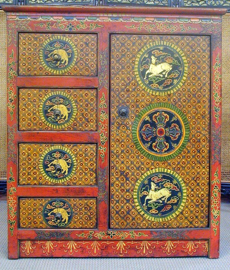 Mobili tibetani religione decorazioni - Mobili tibetani antichi ...